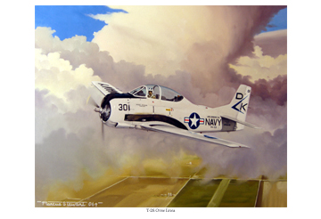 T-28 Over Iowa by Marc Stewart